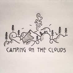 Image result for mountain and camping doodles