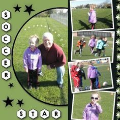 Soccer scrapbook layout using My Digital Studio software from Stampin' Up!
