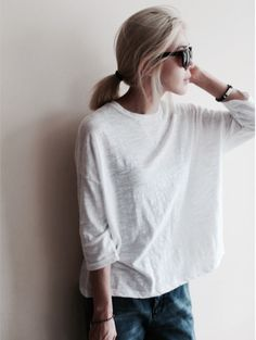 Summer Style For Ray Ban Sunglasses, 2016 Ch-eap Ray Ban Out-let From Here. Mode Outfits, Casual Outfits, Fashion Outfits, Womens Fashion, Fashion Tips, Minimal Chic, Minimal Fashion, Minimal Classic, Vogue