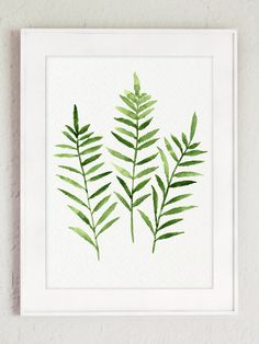 Fern Watercolor Painting set 3 Ferns Kitchen Art Print, Botanical Leaf Wall Decor Abstract Leaves Illustration Green Home Garden, Forest Art - Floral pattern - Watercolor Paint Set, Watercolor Paintings, Art Paintings, Watercolour, Original Paintings, Canvas Wall Decor, Wall Art Prints, Leaves Illustration, Garden Illustration