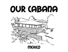 Our Cabana colouring sheet