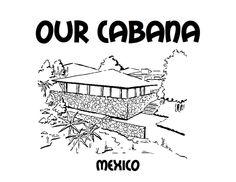 Our Cabana colouring sheet