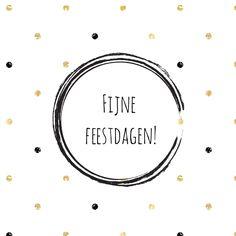 Trendy kerstkaart met goud/zwarte stippen, verkrijgbaar bij #kaartje2go voor €11,95