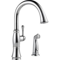 Delta Cassidy Single-Handle Standard Kitchen Faucet with Side Sprayer in Chrome