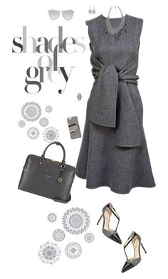 """""""Shades of Grey"""" by sherry7411 ❤ liked on Polyvore featuring Wall Pops!, Skinny by Jessica Elliot, Henri Bendel, Michael Kors, Karen Walker, ADORNIA, grey and falltrends"""