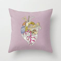 my heart is real Throw Pillow by Bianca Green - $20.00