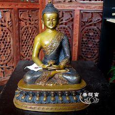 上行道尼泊尔精品阿弥陀佛佛像手工释迦牟尼佛牟尼藏传佛教九9寸-淘宝网