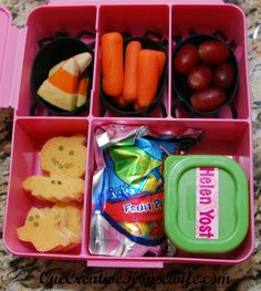 Kindergarten Lunches Halloween Style
