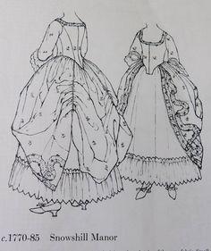 American Duchess: V189: Beginning a Robe a l'Anglaise a la Polonaise
