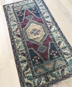 Genuine vintage Turkish rug handmade with wool in Anatolia, most often in the country of Turkey. Size: x Burgundy, navy, peachy pink, light blue Persian Carpet, Persian Rug, Loom And Kiln, Turkey Country, Beige Carpet, Carpet Stairs, Woven Rug, Handmade Rugs, Carpet Runner