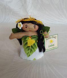 Aloha Doll Ornament: Leilani (Heavenly Flower) by HawaiianArtDolls