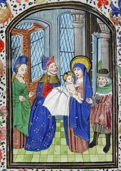 It's About Time: The Presentation of Jesus at the Temple from Illuminated Manuscripts