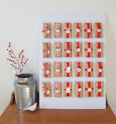 Today, contributing writer Rene shares a roundup of 10 clever advent  calendars:  It's the most wonderful time of year, once again. A great way to jump-start  the holiday spirit is with an advent calendar. Here are some clever options  you can DIY, or a couple you can buy (because let's face it, sometimes  crafty aspirations have to fly out the window). Count down the days with  tiny treats or activity ideas (see #5).