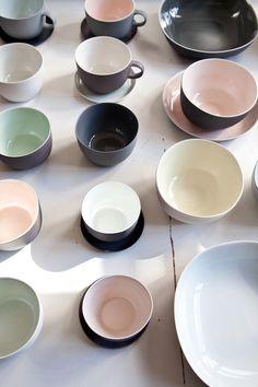 Nathalie Lahdenmäki - neutral matte surfaces with glazed interiors.