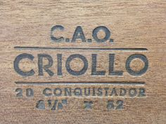 CAO Criollo Conquistador Cigars - Box of 20: $152