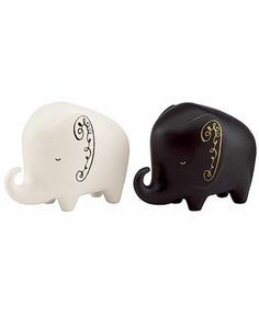 kate spade new york Salt and Pepper Shakers, Woodland Park Elephant - Collections - for the home - Macy's