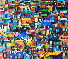 Takoradi, Found Slippers and Acrylic on Canvas / Patrick Turkson, Ghana