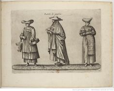 Foreign Costume Series | Jean-Jacques Boissard | 1581 | Bibliothèque nationale de France | Ref.: 4-OB-26 | Women of Pamplona