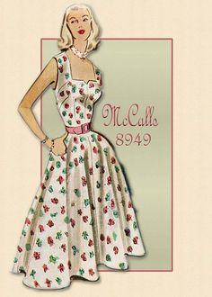 McCall's 8949--Sassy-Flirty Summer Dress Pattern-Also Has An Abbreviated Bolero Cover-Up