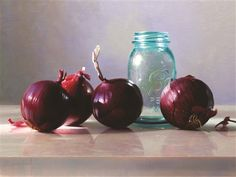Red Onions by Cindy Procious