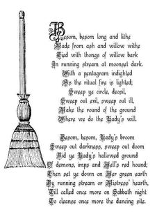 A Witches' Besom pagan wiccan witch witchcraft