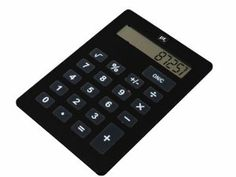 "Amazon.com: Wanted XXL Black Plastic Calculator, Measures 11"" x 8"""