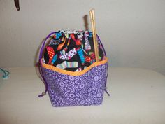 Small Knitting Project bag Socks by StitchedNaturally on Etsy