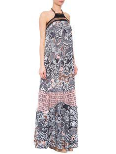 Vestido Duo Estampas Crochet - Animale - Preto - Shop2gether