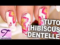 Tutorial flowers hibiscus one stroke and fine lace mesh - YouTube