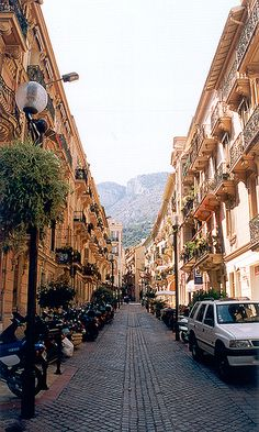 Typical street in Monte Carlo, Monaco