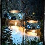 Snowy+Mason+Jar+Winter+Candle+Craft