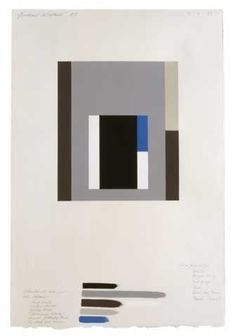 Gordon Walters, En abyme study with named colours, 1987, acrylic on paper collage. Walters Estate