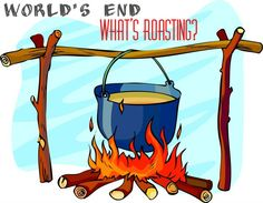 What's roasting on World's End? Sure smells like campfire cookin' and it's importance to every survivalist, prepper and doomsdayer alive. Click here to learn more about this off grid solution to cooking.  http://theworldsend-prepare.blogspot.com/2015/03/whats-over-your-fire-guide-to-after.html