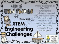 "STEM Engineering Challenge Picture Book Pack ~ Where the Wild Things are from Smart Chick on TeachersNotebook.com (41 pages)  - This STEM Challenge Pack is based on the book, ""Where the Wild Things are"", by Maurice Sendak."