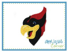 Cardinal Mini Filled Embroidery Design