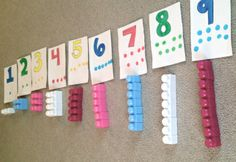 Concrete Number Lines Teach the Value of Numbers (Blog Post):  During math play, kids can discover the value of numbers with concrete number lines.