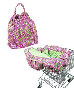 Pink Paisley Shopping Cart Cover