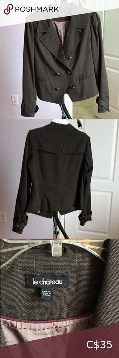 Le Chateau Blazer Mint condition le chateau Jackets & Coats Blazers & Suit Jackets Long Jackets For Women, Blazers For Women, Suits For Women, Houndstooth Jacket, Striped Jacket, Casual Blazer, Plaid Blazer, Military Style Coats, Sleeveless Blazer