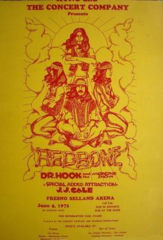 Dr Hook and Redbone concert poster from Rock Posters, Band Posters, Movie Posters, Dr Hook, Vintage Concert Posters, Psychedelic Rock, Music Images, Horror Comics, Rock Concert