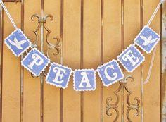 Christmas PEACE banner