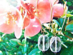Blomster og boheme og øreringe i lyserøde krystal med fine forgyldte øreringe til boheme kvinden med den særlige smag.  Flowers and bohemian earrings. Free shipping in Europe. order: annette@annweidesign.com www.annweidesign.com