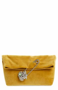 3dc5118961bdf Burberry Small Safety Pin Clutch Burberry Outfit