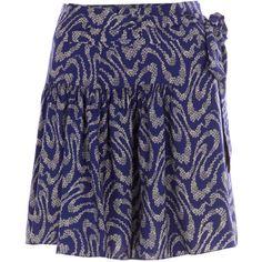 Vanessa bruno skirts BLUE ($240) ❤ liked on Polyvore