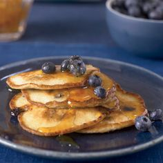 This recipe for Ricotta Pancakes with Blueberries is from LA's BLD Restaurant. Adding fresh ricotta to the batter makes them incredibly moist and light.