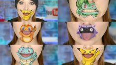 POKEMON GO!!! 5 Characters Lip Art!