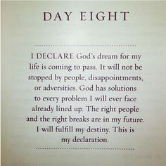 This is my declaration.