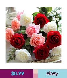 Pin by elsa fullarton on roses pinterest 099 artificial individual rose flowers wedding party bridal bouquet home decorations ebay home junglespirit Choice Image
