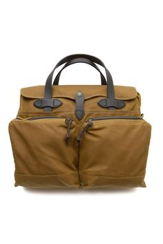 Filson 24 Hour Tin Cloth Briefcase Tan