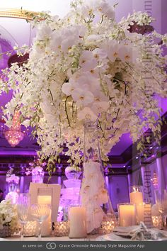 orchid centerpieces for a very elegant wedding Orchid Centerpieces, Wedding Centerpieces, Wedding Table, Wedding Bouquets, Wedding Flowers, Aisle Flowers, Centrepieces, Wedding Dresses, Dream Wedding