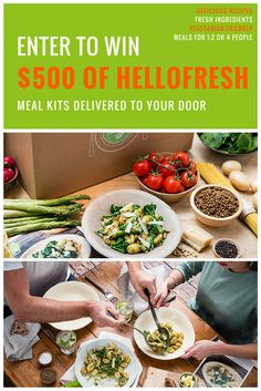 There's nothing better than having a truly delicious meal... except when you can have a lot of them for free! Enter to win $500 worth of meals from  @HelloFresh and get yummy meal kits delivered right to your door #hellofreshgiveaway